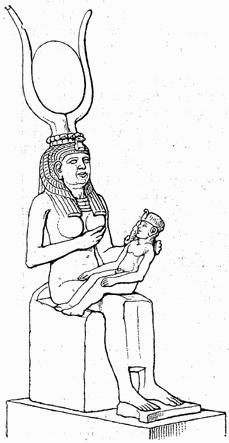 Isis nursing Horus sketch