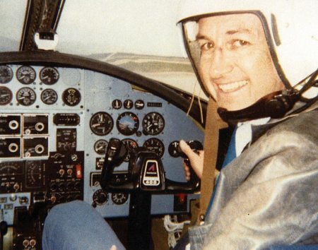 William_Mills_Tompkins in cockpit