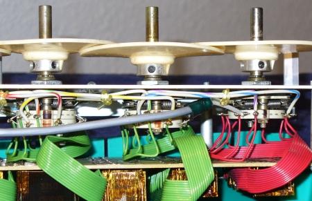 voltage divider assembly inside
