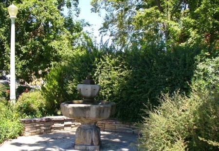 fountain in mini park