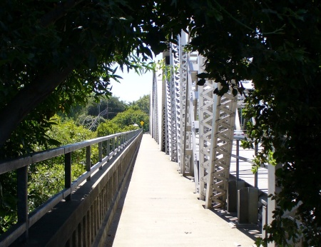 foot path on bridge