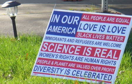 love is love yard sign