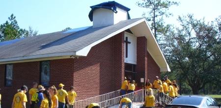 damaged church