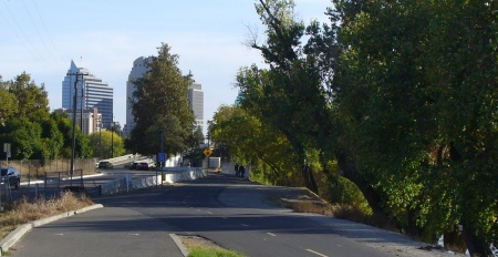 bike trail near old Sac