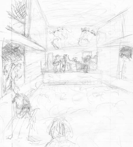 filmore west concert sketch