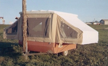 tent trailer after storm