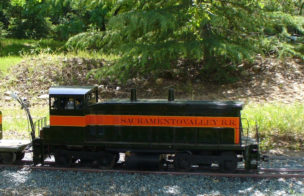 maintenance locomotive at Sacramento Model Stream Train Museum