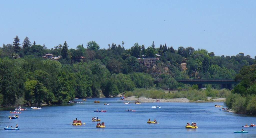 rafting on the American river