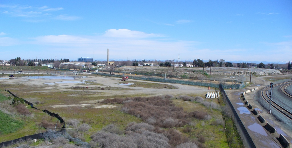 railyards area looking away from the city