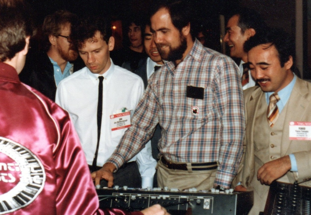 MIDI demonstration at NAMM in January 1983.